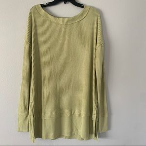 Free people North Shore thermal in pear